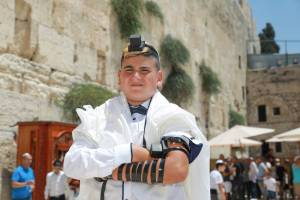 Bar Mitzvah ceremony at the Kotel