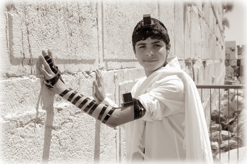 photo bar mitzvah at the kotel western wall