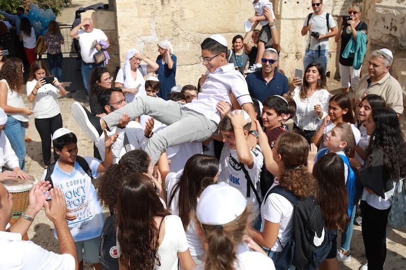 bar mitzvah by the kotel