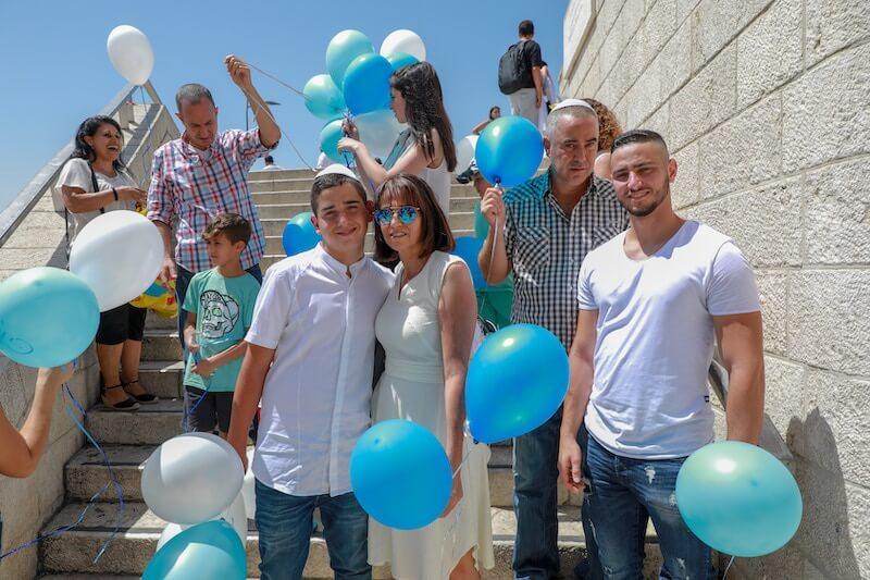 photo bar mitzvah balloons