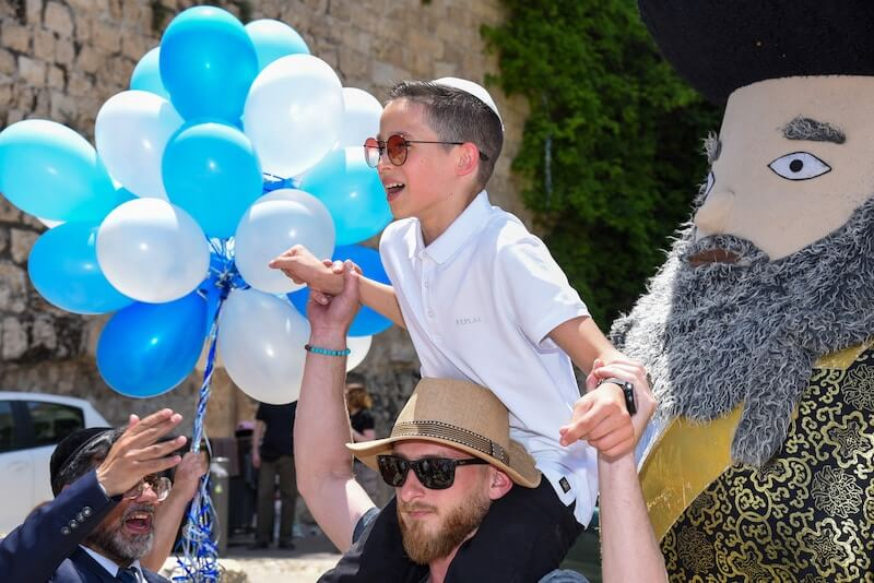 bar mitzvah at the western wall in israel